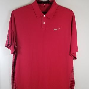 TIGER WOODS NIKE DRI FIT GOLF POLO MEN SIZE XL